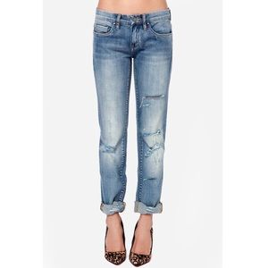 Blank NYC | Distressed straight leg jeans
